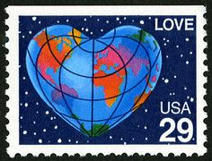 The Heart Globe, one of the 1991 Love stamps, was issued in Honolulu, Hawaii on May 9.
