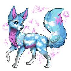 Animal drawings, creature drawings и cute animal drawings. Cute Fantasy Creatures, Mythical Creatures Art, Cute Creatures, Cute Wolf Drawings, Kawaii Drawings, Anime Animals, Cute Animals, Mystical Animals, Furry Drawing