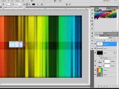 ▶ Photoshop CS4 - Colorful Bars Wallpaper Tutorial - YouTube