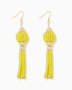 charming charlie | Lola Beaded Tassel Earrings | UPC: 400000179018 #charmingcharlie