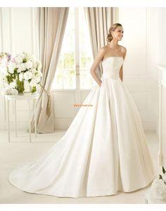 trägerloser Ausschnitt Frühling Applikation Brautkleider 2014