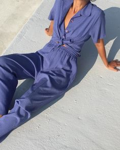 "1,192 curtidas, 4 comentários - Na Nin Vintage (@naninvintage) no Instagram: ""Vintage sweet blue gingham plaid set, top is best for s/m frames and pants are best for l/xl but…"""