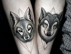 Here we shared a lot of wolf tattoos. They are usual for mans and womans. Colored best 2019 wolf tattoos, you can choose one of them for yourself. Couple Tattoos Love, Hand Tattoos For Guys, Small Tattoos, Wolf Tattoos, Animal Tattoos, Cat Tattoos, Brother Tattoos, Tattoo Son, Wolf Tattoo Design