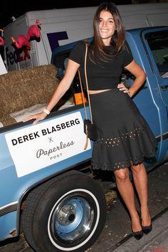 Derek Blasberg for Paperless launch, New York – September 25 2013  Julia Restoin-Roitfeld.