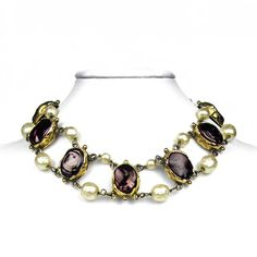 CHANEL COUTURE 1983 PEARL NECKLACE - BYZANTINE VINTAGE GRIPOIX GOLD