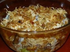 Sałatk z prażona cebulka Salad with roasted onions Mashed Potato Balls Recipe, Delicious Dinner Recipes, Yummy Food, Raw Breakfast, White Sauce Pasta, Chicken Parmesan Pasta, Roasted Onions, Paleo Chicken Recipes, Salad Recipes