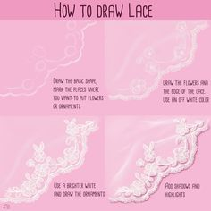 DIGITAL ART - How to Paint Lace — Steemit