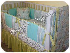 Custom Baby Crib Bedding SetCrib Bumper by LittleBurpsnGiggles, $239.00