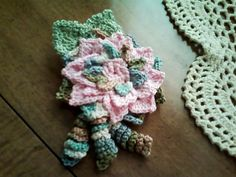 Handmade Hand Crochet Irish Rose Crochet Flower by DigitalPicks