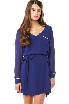ShopSosie Style : Bettina Dress in Cobalt