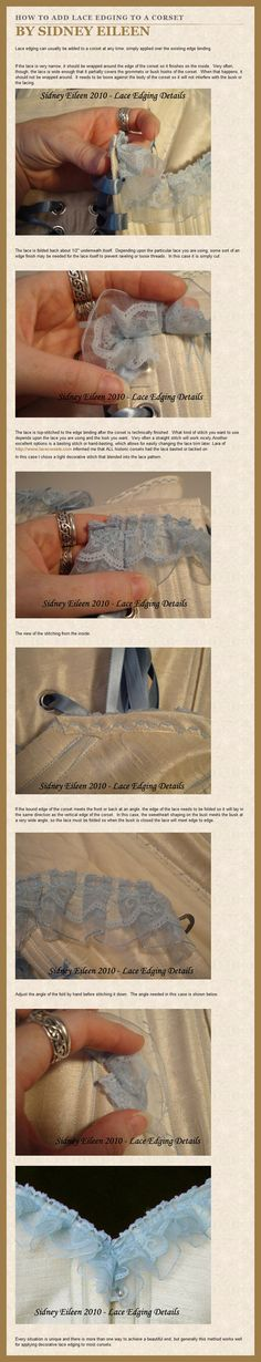 This tutorial demonstrates in detail how to make an underbust or waist cincher Victorian corset using a synthetic sport mesh. Mesh corsets were made in the late Victorian, but they were constructed...