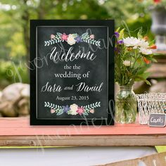 Printable personalized Wedding Sign  Welcome to by SJWonderlandz