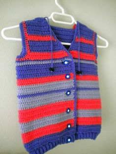 Crocheted Vest with hood