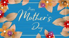 A Modern Illustration Of A Happy Mother's Day, With Paper Flowers And Letter On. Happy Mothers Day Greeting Card With Beautiful Flowers Background Happy Mothers Day Banner, Mothers Day Poster, Happy Mother's Day Card, Happy Mother's Day Greetings, Happy Mother S Day, Flower Cards, Paper Flowers, Mother's Day Banner, Mother's Day Background