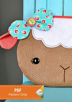Little Lamb Zippy Critter PDF Pattern by StubbornlyCrafty on Etsy, $3.99