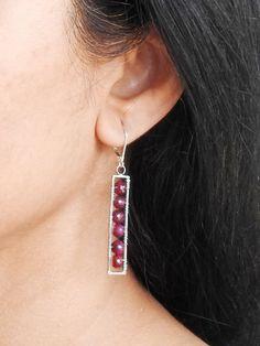 Items similar to Ruby earrings Gemstone earrings Modern earrings Red earrings Boho jewelry wire wrapped Silver earrings Silver dangles Gifts for her on Etsy Ruby Earrings, Copper Earrings, Gemstone Earrings, Gemstones, Trending Outfits, Unique Jewelry, Handmade Gifts, Modern, Silver