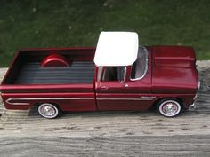 Photo by Craig Hover Chevy Pickups, Chevy Trucks, Lowrider Model Cars, Model Cars Building, Hobby Cars, Truck Scales, Custom Hot Wheels, Plastic Model Cars, Vintage Models