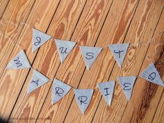 Burlap Banner Just Married Bunting Wedding Photo Prop by AnnKayDesign