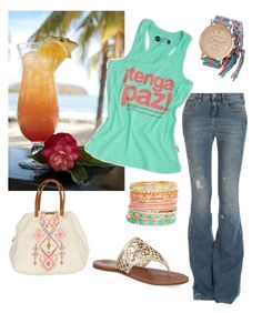 """""""Tenga paz = relax"""" by glorinonis on Polyvore featuring moda, dVb Victoria Beckham, Tory Burch, Accessorize, Aéropostale, Costa y Billabong"""
