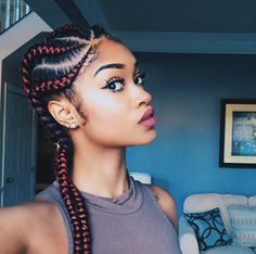 Dope cornrows @thesmartista - http://community.blackhairinformation.com/hairstyle-gallery/braids-twists/dope-cornrows-thesmartista/