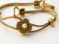 Goldette Signed Bracelet by ERAtiqueJewels on Etsy, $34.00
