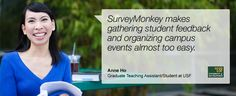 Teachers and students can create free surveys and analyze the data
