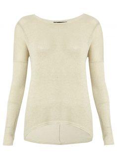 Cream Shimmer Jumper £14.99 #pinternacionale