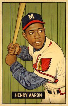 42fc19234c Hank Aaron 1951 Bowman