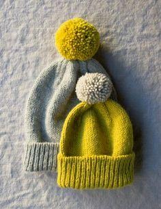 Classic pattern with cuff hat / Purl Bee .-Klassisches Muster mit Manschettenhut / Purl Bee Classic pattern with cuff hat / purl bee - Baby Knitting Patterns, Free Knitting, Crochet Patterns, Knitting Hats, Sewing Patterns, Purl Bee, Knit Beanie Pattern, Mittens Pattern, Knit Crochet