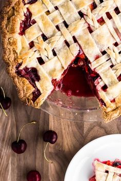 Embrace summer with a Cherry Berry Peach Pie! This all-butter lattice crust is filled with sweet & sour cherries, strawberries, blueberries, and peaches. Pie Crust Recipes, Tart Recipes, Baking Recipes, Dessert Recipes, Baking Ideas, Sweet Recipes, Fudge, Brownies, Peach Pie Filling