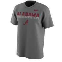 Alabama Crimson Tide Nike Train Speed 4 Week Zero College Collection  Dri-FIT T-Shirt - Gray 02c919876