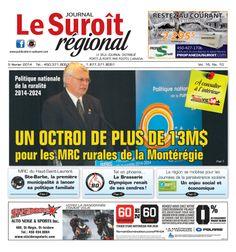 La une, journal du 5 février 2014 http://www.jeanguycote.com