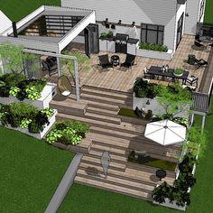 Outdoor Pergola, Outdoor Rooms, Outdoor Gardens, Outdoor Living, Small Backyard Design, Small Backyard Landscaping, Cozy Patio, Backyard Water Feature, Villa Design