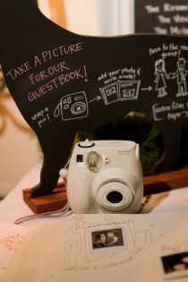 polaroid guestbook - i wouldnt use it with polaroids though, thats so pricey!