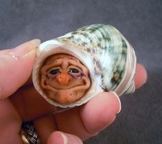 OOaK Polymer Clay Hermit Art Doll Fairy Sculpture