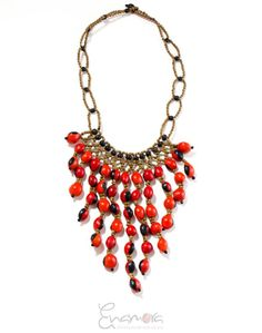 Exclusive handcrafted #ecochic #necklace with #huayruroseeds by Rebecca from #indigenous community in Ecuadorian Amazon.Be inspired by nature's beauty #jewelry