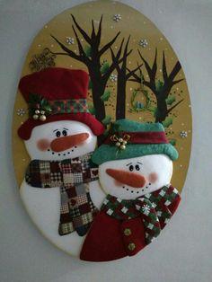 Polymer Clay Christmas, Felt Christmas Ornaments, Christmas Holidays, Christmas Crafts, Christmas Window Decorations, Snowman Decorations, Christmas Centerpieces, Christmas Applique, Christmas Fabric