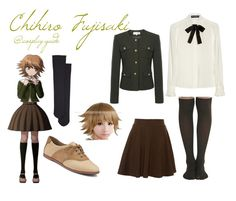 """""""Chihiro Fujisaki Dangan Ropa cosplay outfit"""" by consultingpolyvorer ❤ liked on Polyvore featuring Helene Berman, Wolford, Dolce&Gabbana, Sperry Top-Sider and Pull&Bear"""