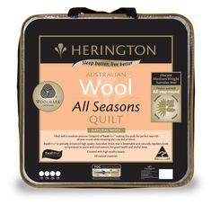 UP TO 🔥OFF on Australia Wool All Seasons Queen Quilt by Herington. We are offering an All Seasons Queen Quilt with a huge discount.