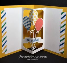 This past weekend I went to Atlanta for the launch of the new Occasions catalog to Stampin' Up! Demonstrators. It was a fun weekend and Stampin' Up! did not disappoint us with this new catalog. Check out these Make and Take cards from the event. This card trio uses the new Sending Love Suite. The Sealed with Love stamp set has coordinating framelits! Then there is the Party Animal Suite which features this fabulous Balloon… Continue reading