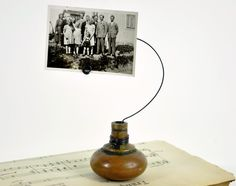 old door knob picture holder