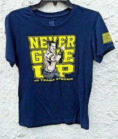 John Cena Never Give Up Wrestling Shirt WWE Youth Large Blue #WWE #forsale #johncena #nevergiveup #wrestling #shirts Wrestling Shirts, John Cena, Giving Up, Never Give Up, Wwe, Youth, Mens Tops, T Shirt, Ebay