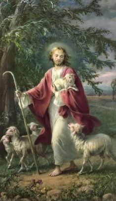 Pictures Of Christ, Religious Pictures, Christ The Good Shepherd, Jesus Loves Us, Jesus Bible, Blessed Mother Mary, In Christ Alone, Divine Mercy, Catholic Art