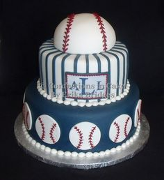 Baseball Cake Birthdays Boys and Baseball party