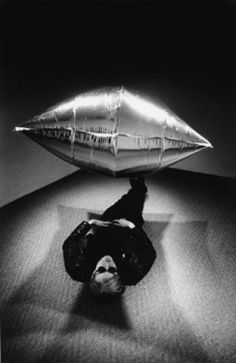 'ANDY UNDER THE SILVER CLOUD' (Andy Warhol)Photographed by Steve Schapiro,1965.