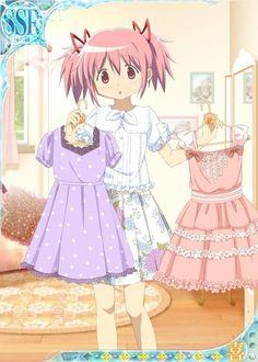 Cute Madoka with dresses