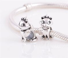 Sterling Silver Charm kitten   charm for european by charms925