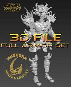 Cosplay Armor - Darth Krayt Armor - 3D Print File  - Star Wars Legends Yuuzhan Vong, Galactic Republic, Cosplay Armor, Sith Lord, Jedi Knight, Dark Lord, Clone Wars, For Stars, Tmnt