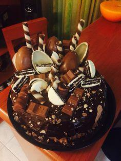 Pastel de chocolate kinder y oreo