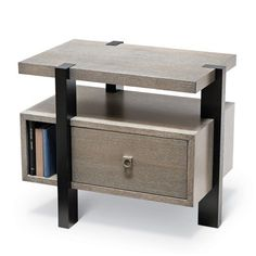 Mezzanine Night Stand  Contemporary, MidCentury  Modern, Wood, Nightstands  Bedside Table by Knowlton Brothers